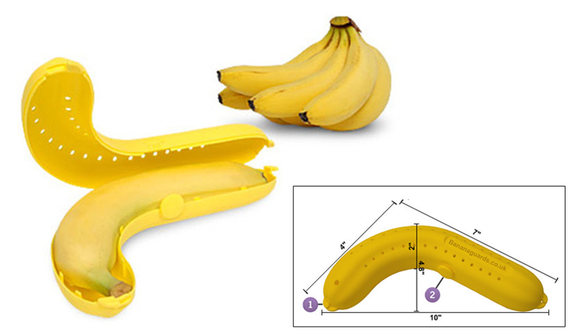 Banana Case Banana Protector Outdoor Office School Banana Holder Lunch Box UK
