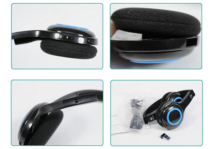 Logitech® H600 2 4 GHz Wireless Headset Over Head Design