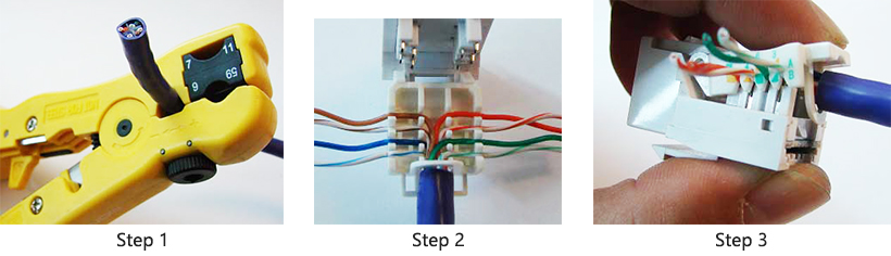 step 6  if your model came with a zip tie, use it to secure the cable  jacket to the keystone