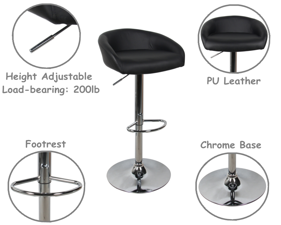 Peachy Adjustable Height Swivel Bar Stool Contemporary Style Moustache 2 Pack White Evergreenethics Interior Chair Design Evergreenethicsorg