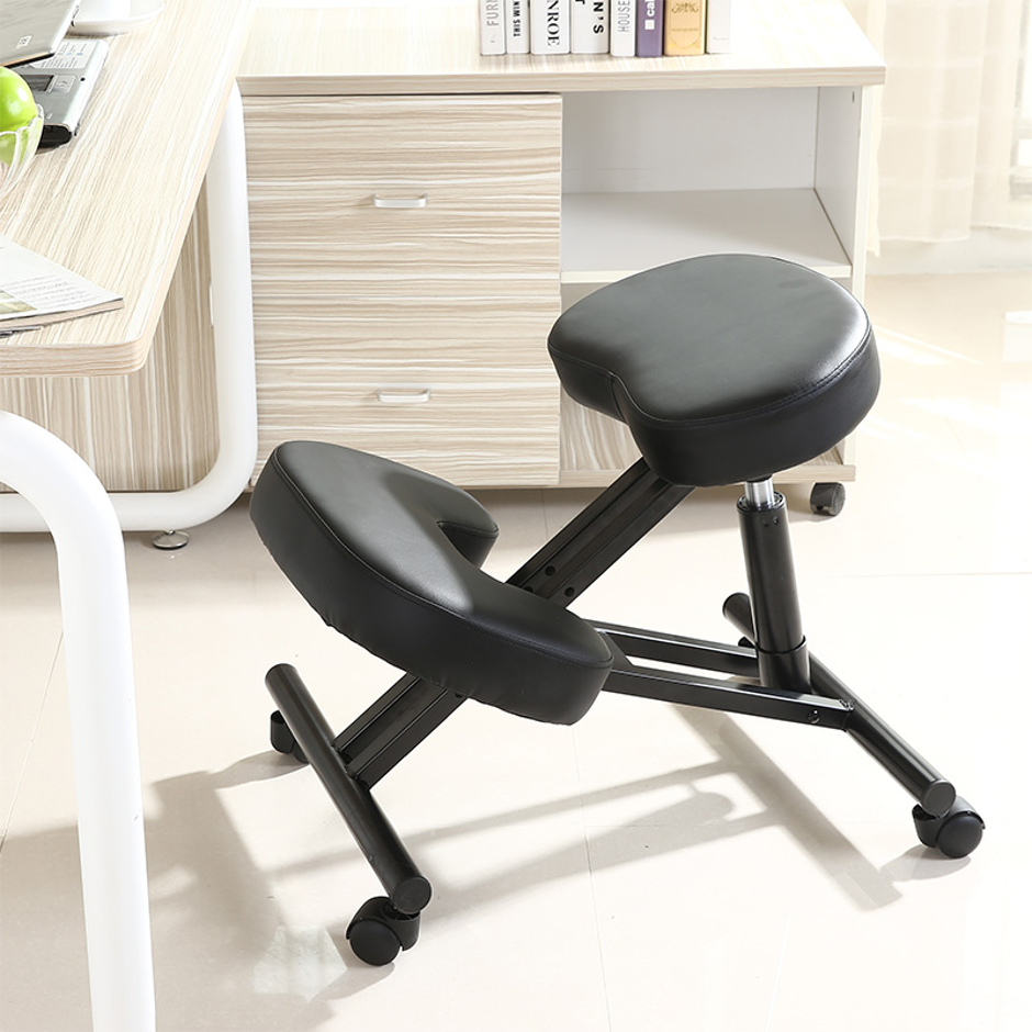 Ergonomic Kneeling Chair Pneumatic gas lift seat color black by Due-home