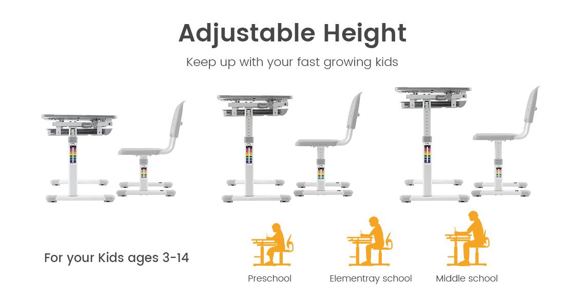 Super Childrens Multi Functional Ergonomic Height Adjustable Desk Chair Set Pink Primecables Forskolin Free Trial Chair Design Images Forskolin Free Trialorg