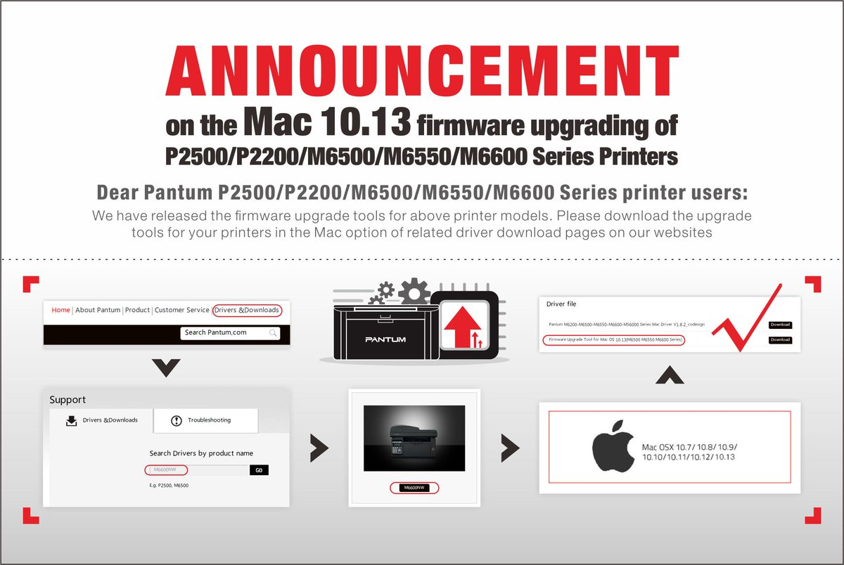 How to update firmware for MAC OS 10.13