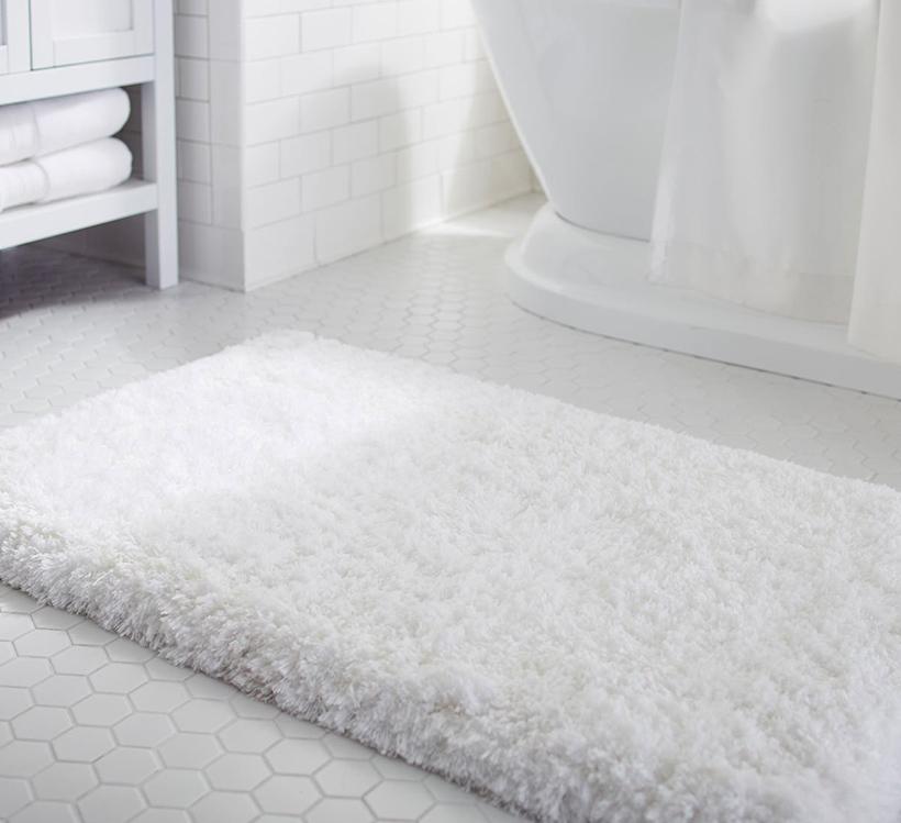 Bathroom Rugs That Absorb Water.Anti Skid Microfiber Memory Foam Fast Dry Bath Rugs Floor Mat White