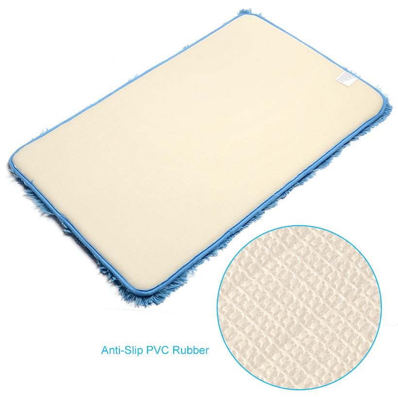 f3859926d4ec Non-Slip Microfiber Chenille Bath Mat Antibacterial Soft Mat, 20