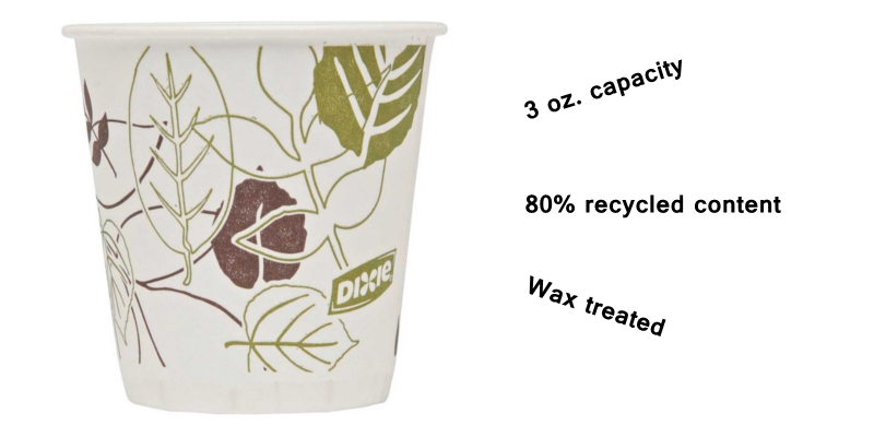 Dixie® 3 oz  Wax-Treated Cold Drink Paper Cups - Package of 100