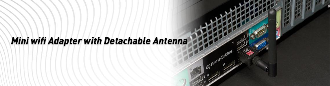 Adaptateur Mini Wifi Usb Primecables N150 2 4ghz Avec Antenne Amovible