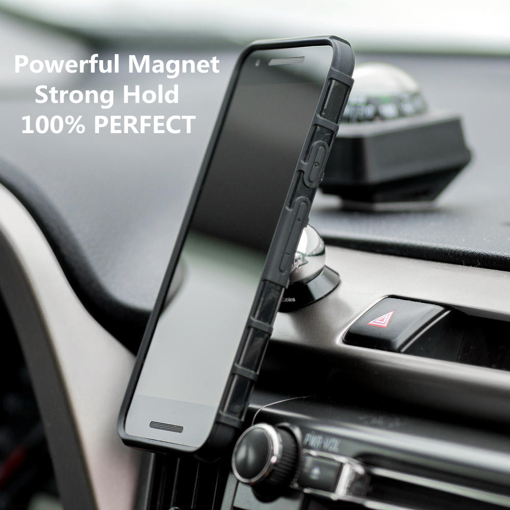 Magnetic Car Mount, 360 Degree Rotatable Universal Car Phone Mount on