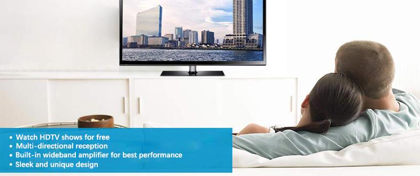 Active Indoor/Outdoor HD6 HDTV Antenna, 50 Mile Range - Monoprice®