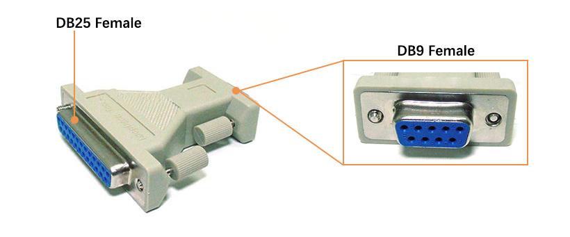 Db9 Female To Db25 Female Serial Loopback Tester