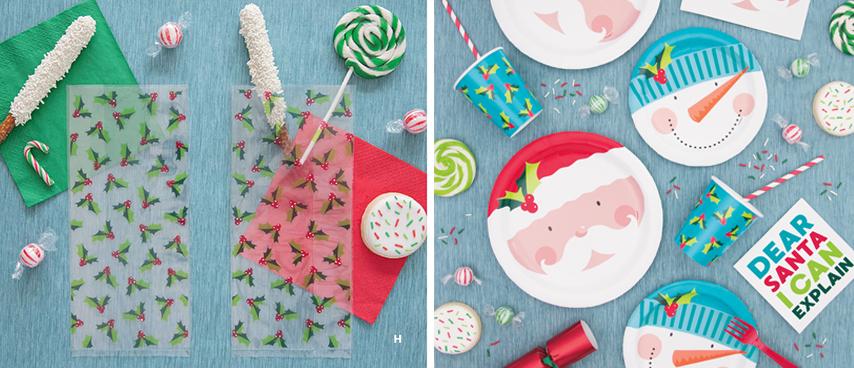 Christmas Cellophane Bags.Happy Holly Santa Christmas Cellophane Bags For Home Party Decor 11 X 5 20ct