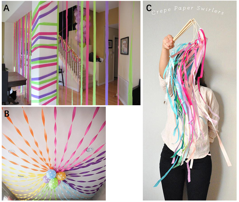Party Streamer Party Decorations Crepe Paper 81 Ft