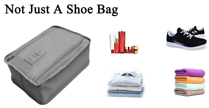 b56132a5604c Convenient Travel Storage Bag Portable Organizer Bags Shoe Sorting Pouch  Multifunction, Gray