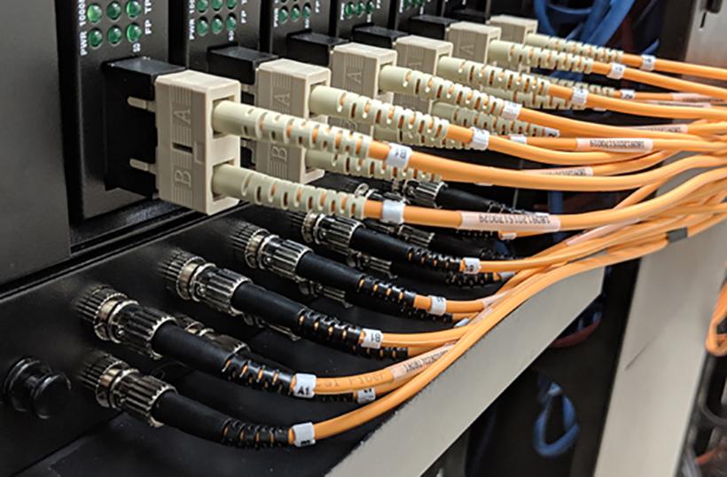 Multimode Duplex SC/ST 50 micron Fiber Cable - 3mm Jacket - 3ft