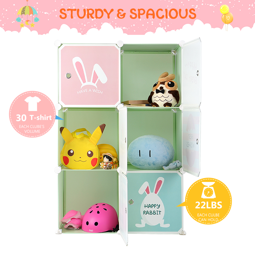6 Cubes Portable Children Storage Storage Rack Cube Organizer Ebay