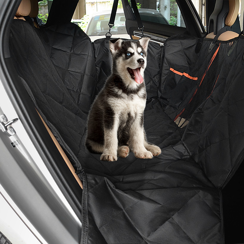 Dog Large Back Car Seat Cover Protectors with Mesh Viewing Window-  LIVINGbasics™