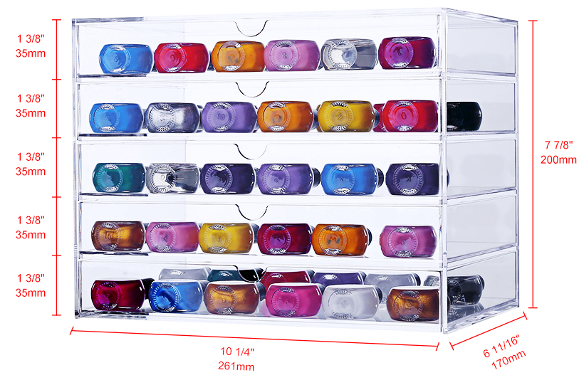 28ab6b31c89f Acrylic Cosmetic Jewelry Storage Makeup Organizer Removable Drawer Extra  Large Cube - SortWise™