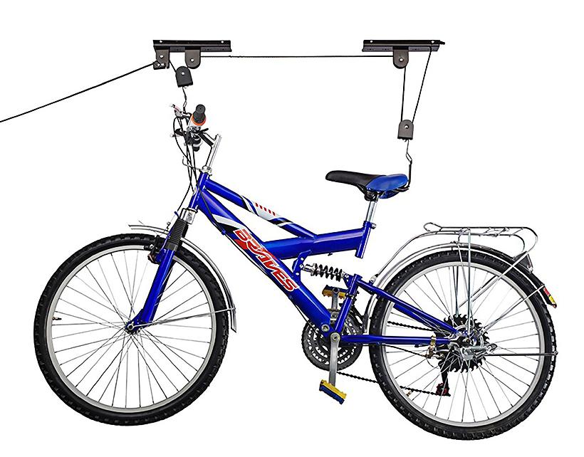 Bicycle Hoist Lift Ceiling Mounted Hanger Pulley Rack Garage Organizer  Storage - SortWise™