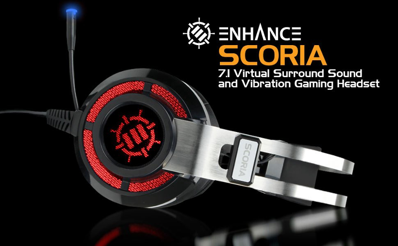 Accessory Power® Enhance Scoria Virtual 7 1 Vibration Gaming Headset
