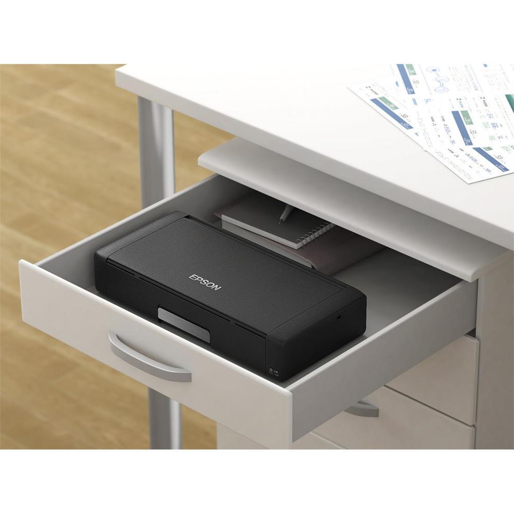 Epson WorkForce WF-100 Wireless Mobile Photo Color Inkjet Portable Printer  (C11CE05201)
