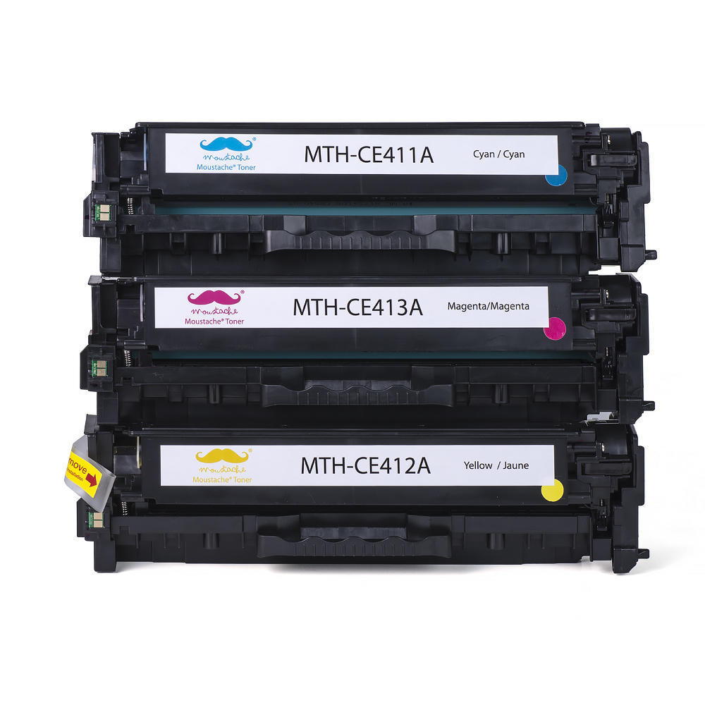 3PK CE411A CE412A CE413A Color Toner Set For HP LaserJet Pro 300 Color M351a CMY