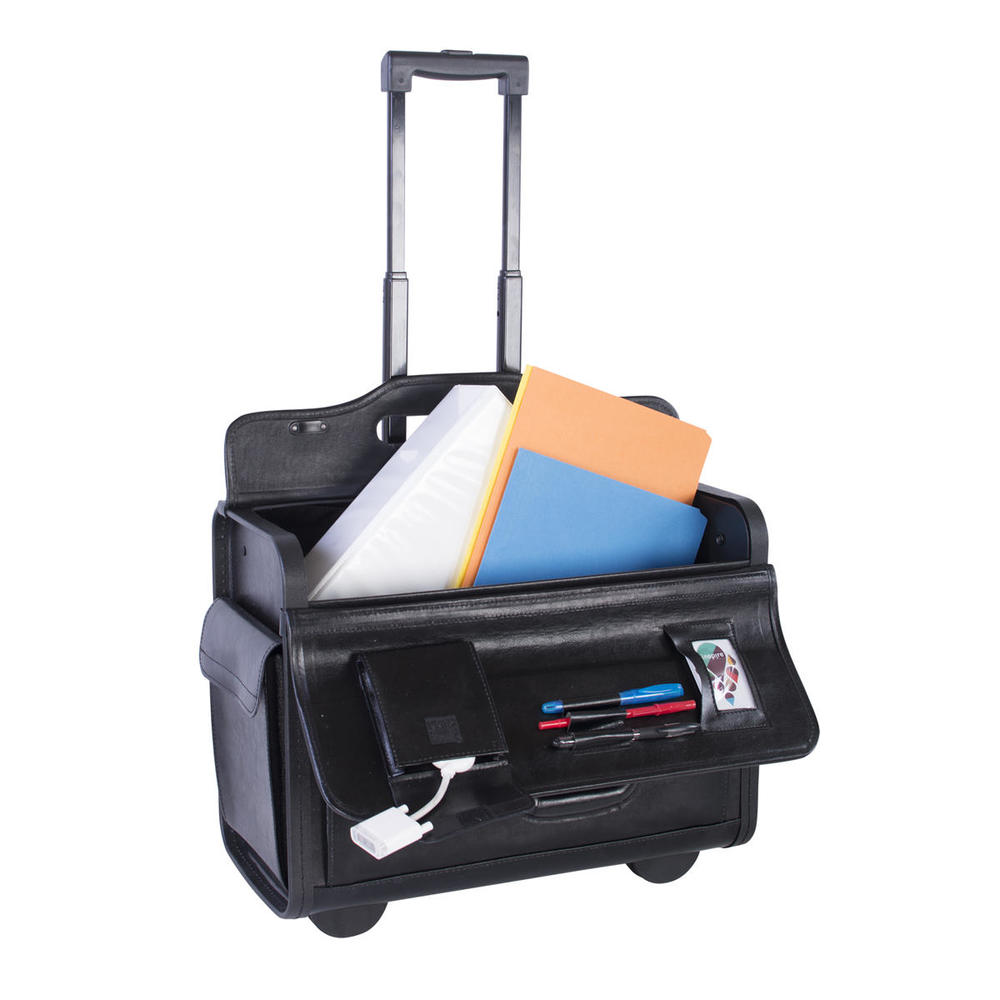 83b8b4a766 Nextech® NT0803 Sample Business Case On Wheels Leather Black 156026