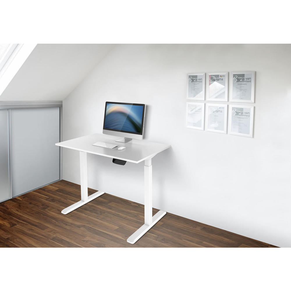 Sit-Stand 2-Stage Single-Motor Height Adjustable ADR Desk Frame,  Electric-White PrimeCables®