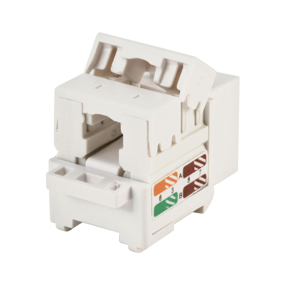 Cat5e Punch Down Keystone Jack - White - PrimeCables® on telephone jack wiring color code diagram, cat 6 wiring diagram, cat 5 crossover wiring diagram, rj45 connector diagram, rj45 wiring guide, cat5e wiring diagram, cat 5 wiring color code diagram, rj45 cat 5e wiring-diagram, rj45 cabling diagram, rj45 connector cat 6 modular plug, cat 5 network wiring diagram, rj45 cable diagram, cable phone line wiring diagram, cat 5 jack wiring diagram, t568a t568b wiring diagram, cat 5 plug wiring diagram, ideal cat 5 wiring diagram, home cat 5 wiring diagram, rj45 cat5e ethernet cable, cat 5 pinout diagram,