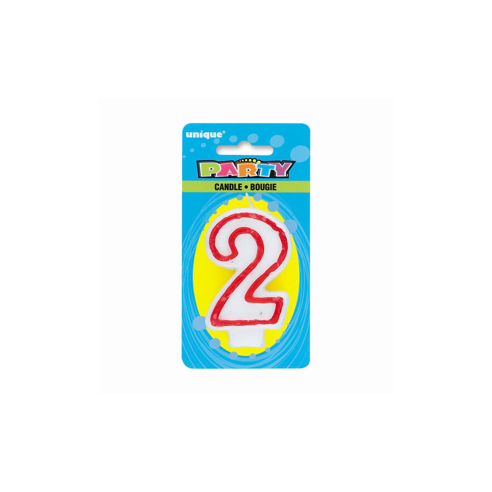 Birthday Candle Number 2 Deluxe 1Pc