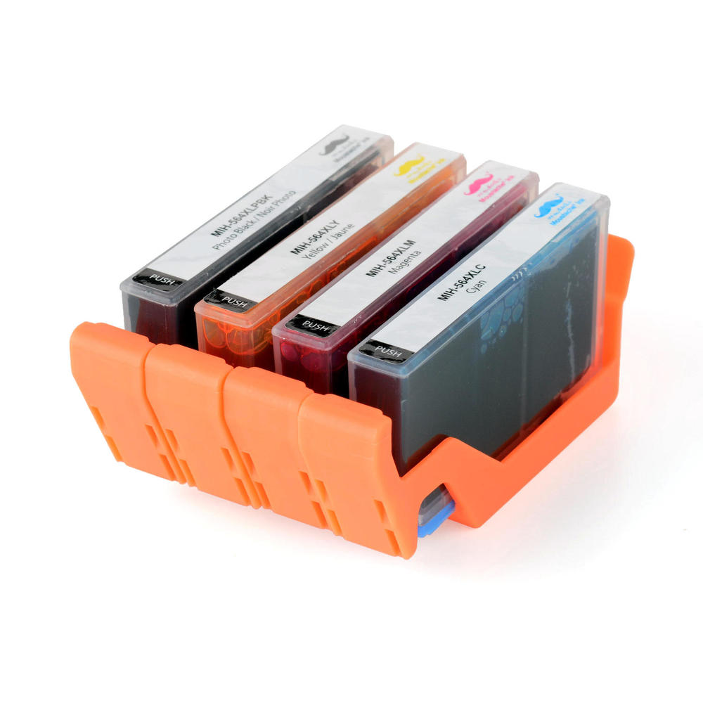 Compatible HP 564XL Ink Cartridge Combo BK/C/M/Y - Moustache®
