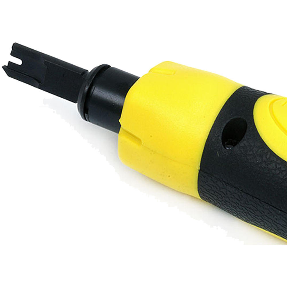 OKSLO LOGICO CAT5E//CAT6 RJ Network Wire Cable Impact Punch Down Tool with 110//66 Blades