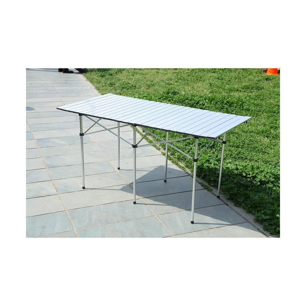 2a3c15b101e Portable Camping Aluminum Folding Table Extended Version