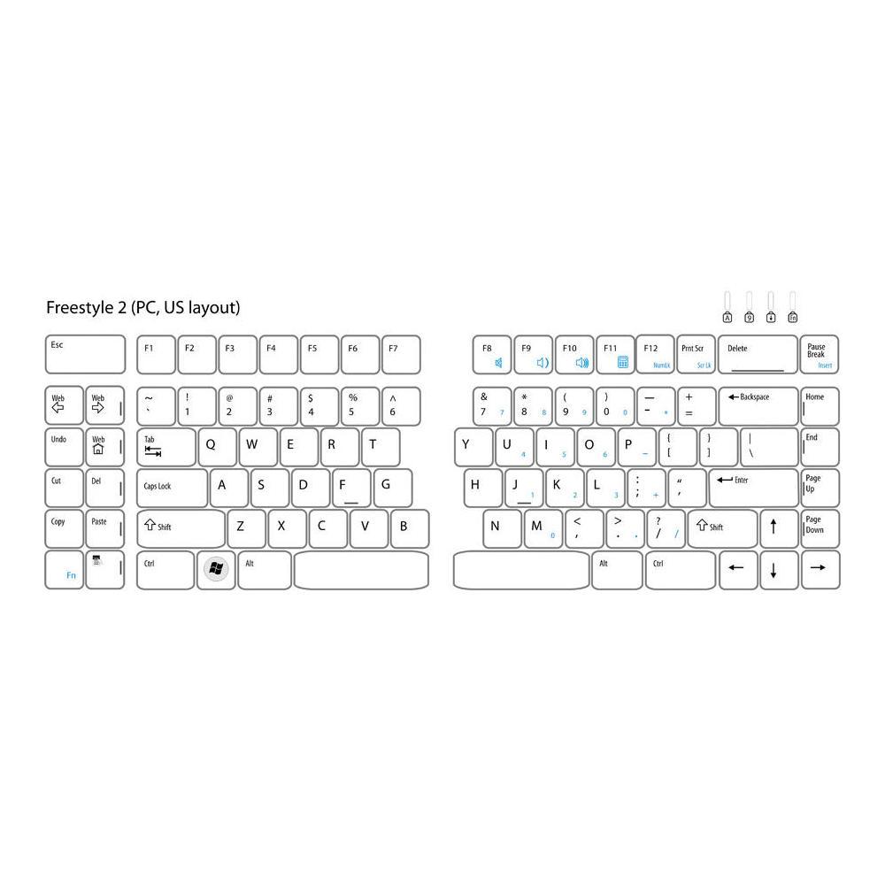 d373b0ab4c7 Kinesis Freestyle2 Ergonomic Keyboard for PC, 9