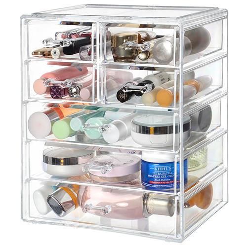 3c63cf89f2d9 Acrylic Makeup Organizer 7 Drawer Large Compartment Beauty Cosmetic Storage  Container - SortWise™