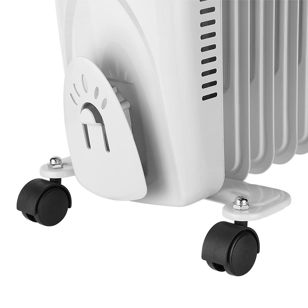Oil Filled Radiator Heater 1500W-LIVINGbasics™ Portable Electric Space Heater
