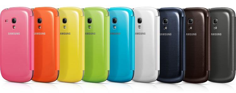 Samsung Flip Cover For Samsung Galaxy S3 Mini Blue