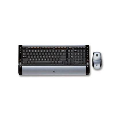 5f64b41aef7 Logitech Cordless Desktop S510 Keyboard & Optical Mouse Silver Black