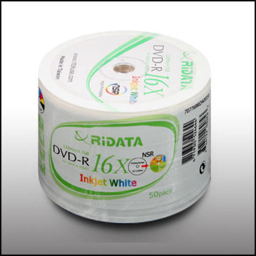 picture about Inkjet Printable Dvd named Ridata Inkjet Printable DVD-R 16X 4.7G 50computers