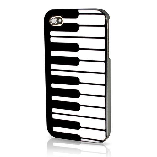 Maclove Protective Étui En Plastique Dure Pour iPhone 4 & 4s, piano