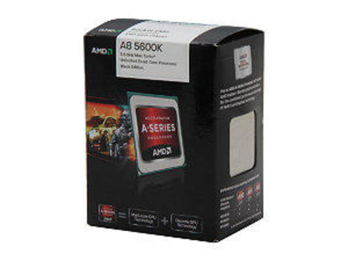 AMD A8-5600K Trinity 3 6GHz (3 9GHz Turbo) Socket FM2 100W Quad-Core  Desktop APU (CPU + GPU) with DirectX 11 Graphic AMD Radeon HD 7560D  AD560KWOHJBOX