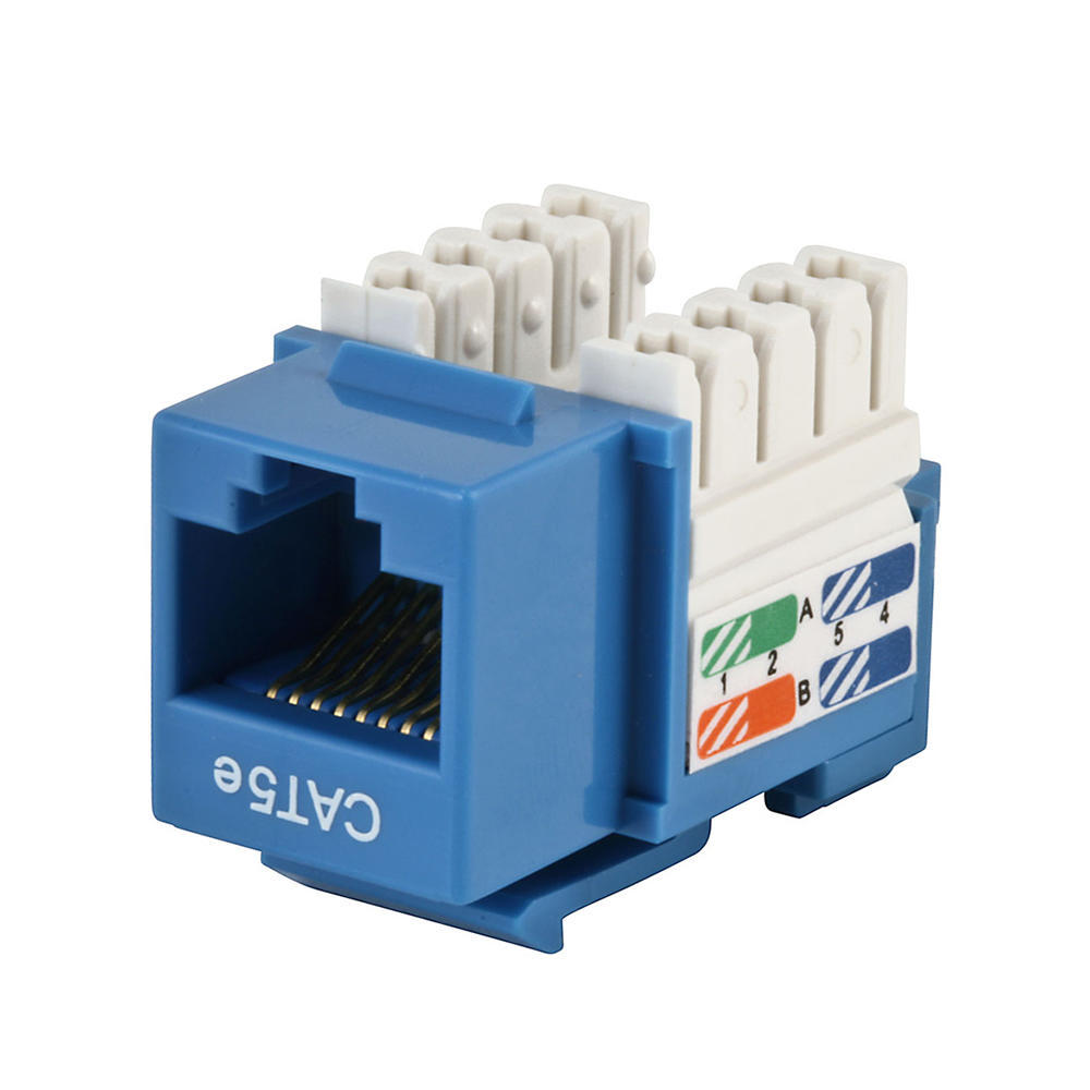 Cat5e Punch Down Keystone Jack - Blue - Monoprice® on telephone jack wiring color code diagram, cat 6 wiring diagram, cat 5 crossover wiring diagram, rj45 connector diagram, rj45 wiring guide, cat5e wiring diagram, cat 5 wiring color code diagram, rj45 cat 5e wiring-diagram, rj45 cabling diagram, rj45 connector cat 6 modular plug, cat 5 network wiring diagram, rj45 cable diagram, cable phone line wiring diagram, cat 5 jack wiring diagram, t568a t568b wiring diagram, cat 5 plug wiring diagram, ideal cat 5 wiring diagram, home cat 5 wiring diagram, rj45 cat5e ethernet cable, cat 5 pinout diagram,
