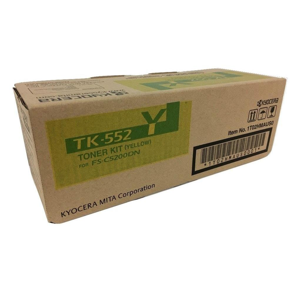 Kyocera OEM TK552Y Toner Cartridge GENUINE BRAND NEW YELLOW TONER CARTRIDGES