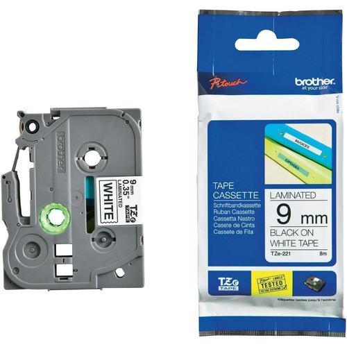 "TZ TZe For Brother 521 Black on Blue Label Tape Compatible 26 ft 9mm 3//8/"""