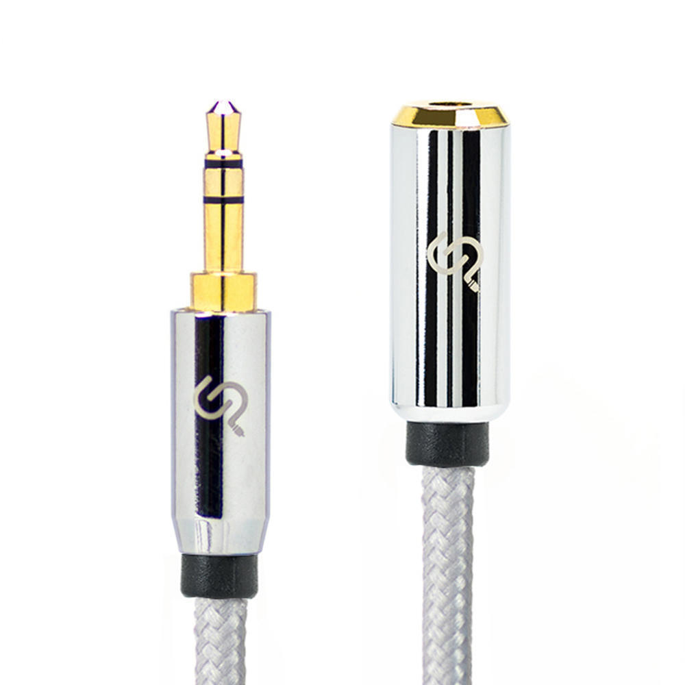 2505d5dc6b7 3ft 3.5mm Male to Female Stereo AUX Mobile Audio Cable w/ Nylon Braided  Protection - PrimeCables® 123InkCartridges 123Ink.ca Canada