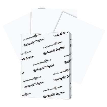 International Paper Springhill® Digital Cover Stock of Letter Size with  Smooth Hard Surface - 90lb