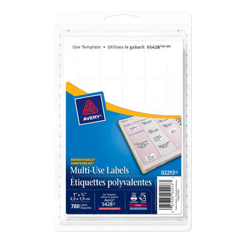 photo about Removable Printable Labels identify Avery® Multi-Retain the services of Detachable Laser/Inkjet Labels - Rectangular, 3/4 x 1\u201d, 780/Pack