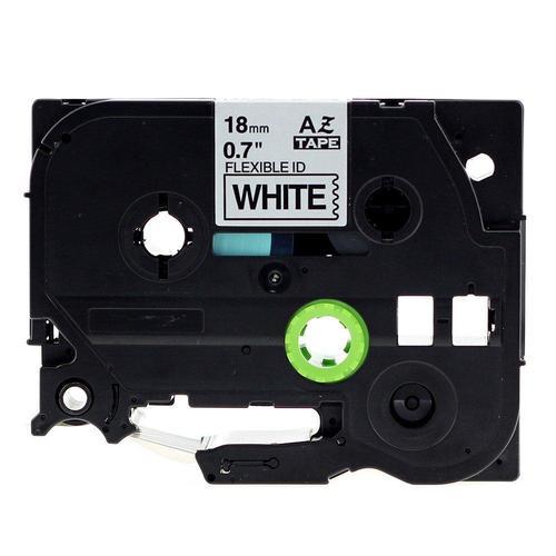 "5 Black White Flexible Label Tape Compatible TZe Fx231 Fx 1//2/"" 12MM 8M BROTHER"