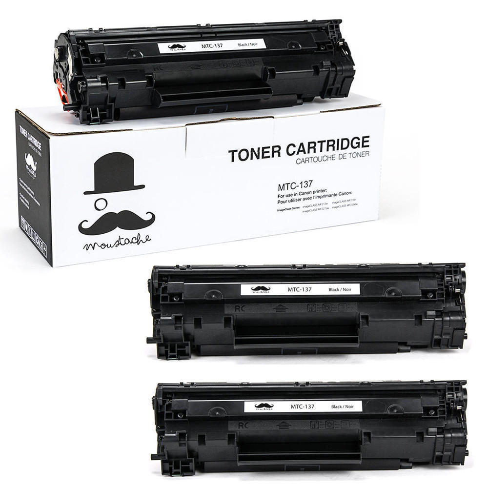 Canon 137 9435B001 Compatible Black Toner Cartridge - Moustache® - 1/Pack