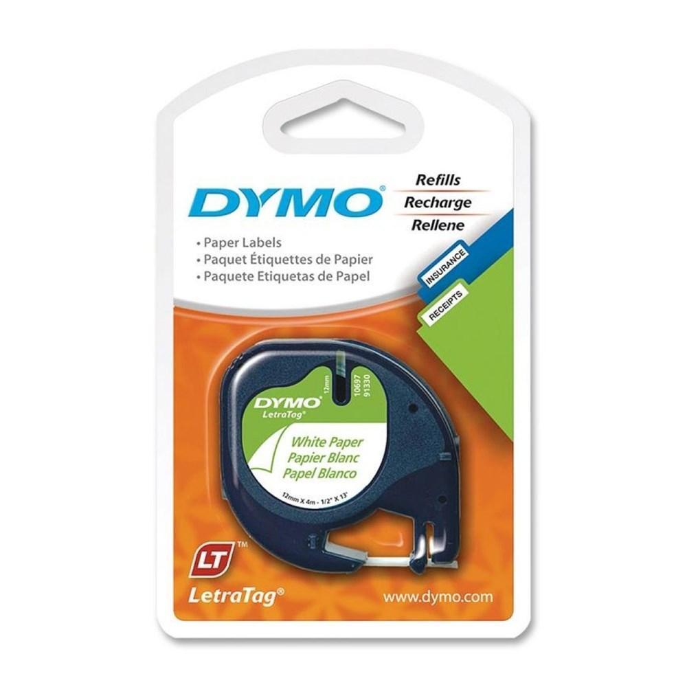 DYMO 91330 LetraTag Original Label Tape, 12mm (1/2
