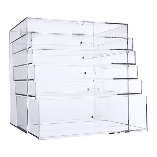 Acrylic Cosmetic Jewelry Storage Makeup Organizer Removable Drawer Extra Large Cube - SortWise™